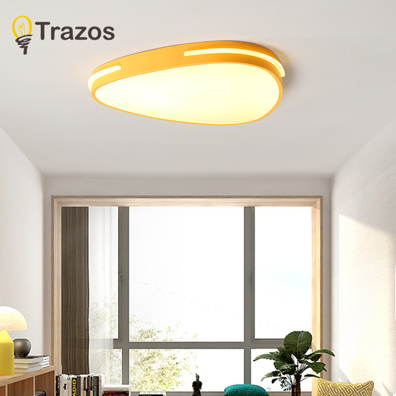TRAZOS LED Flush Mount Ceiling Lights, Dimmable Modern Colorful Thin Wood Lamp Panel Lighting Fixture for Living Room Bedroom free shipping chinese style ceiling lamps designers glass flush mount lighting fixture for living room bedroom