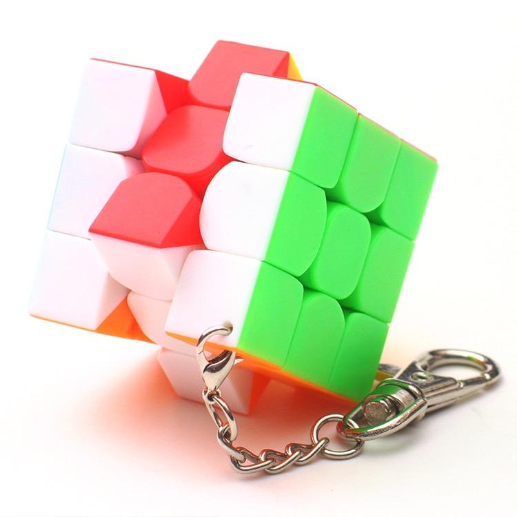 MoYu Mofangjiaoshi 3cm 3.5cm 4cm Mini 3x3x3 Magic Cube Key Chain Professional Educational Toys For Children Cubo Magico Puzzle
