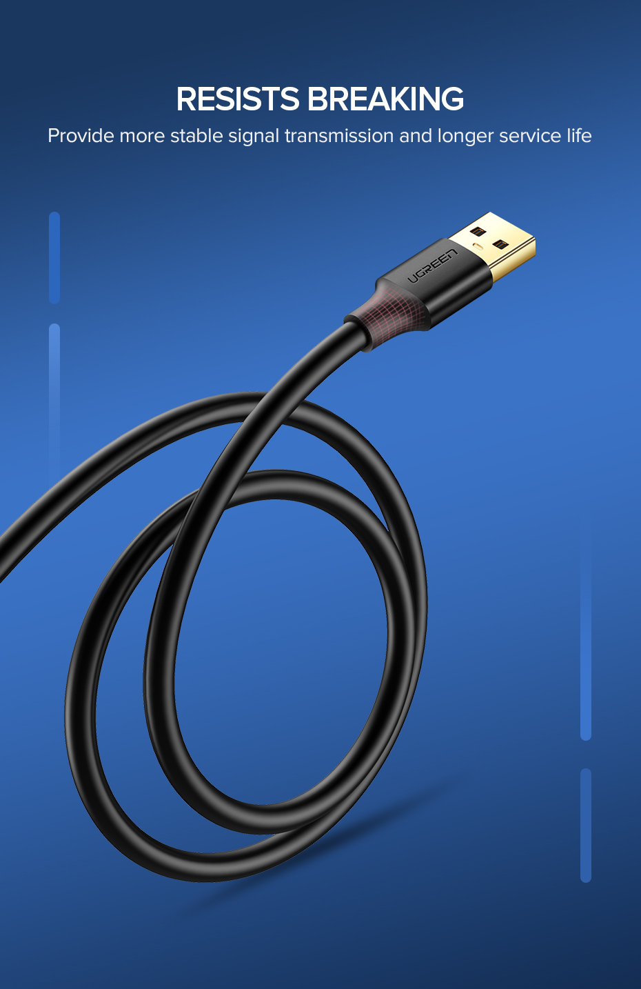 HTB1n.0mTNTpK1RjSZR0q6zEwXXaD Ugreen USB Extension Cable USB 3.0 Cable for Smart TV PS4 Xbox One SSD USB3.0 2.0 to Extender Data Cord Mini USB Extension Cable