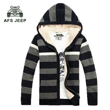 free shipping 2017 winter New Sweaters, Fashionable Hooded Thick Outwear,Knitted Male Coats 140