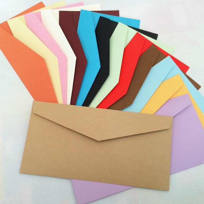 14 Color Blank Envelopes 220X110mm Envelopes 120GMS Greeting Cards Envelopes 100PCS