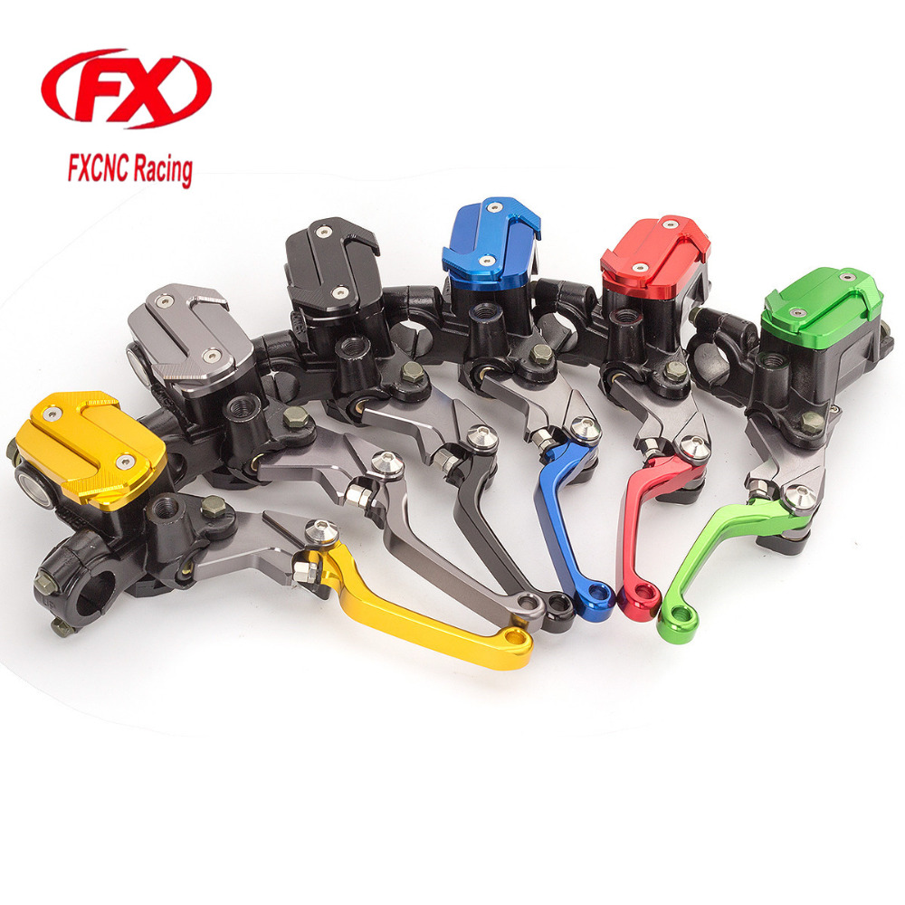 FX 7/8 50-550cc Dirt Pit Bike Motocross Brake Clutch Lever Master Cylinder Reservoir For Hyosung GT250R 2006 - 2010 2009 08 07 cnc 7 8 for honda cr80r 85r 1998 2007 motocross off road brake master cylinder clutch levers dirt pit bike 1999 2000 2001 2002