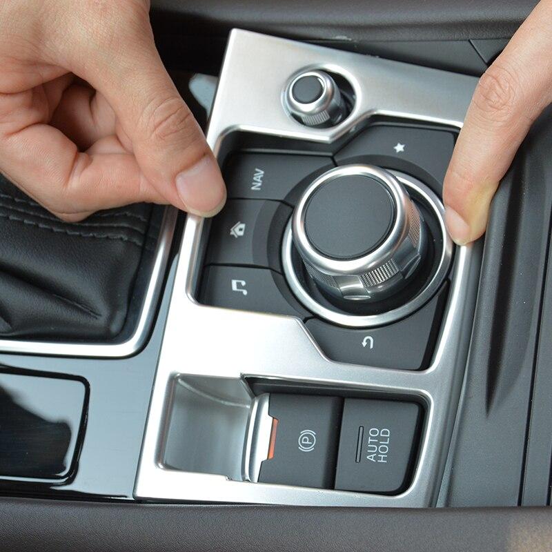 LHD Multimedia Knob AUTO HOLD Cover For Mazda3 Axela 2016 2017 Control Panel Accessories