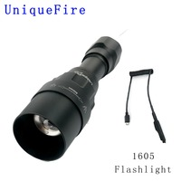 UniqueFire 1605 50 Long range IR 850nm Waterproof Flashlight 3 Mode Rechargeable Night Infrared LED Hunting Torch with Rat Tail