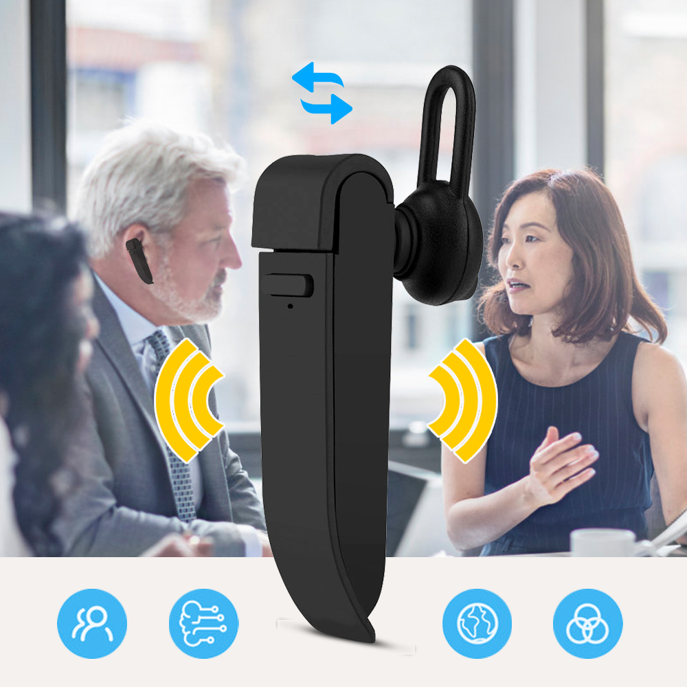 Earphone Voice-Translator Bluetooth Travel Russian-Language Instant Portable Smart Real-Time