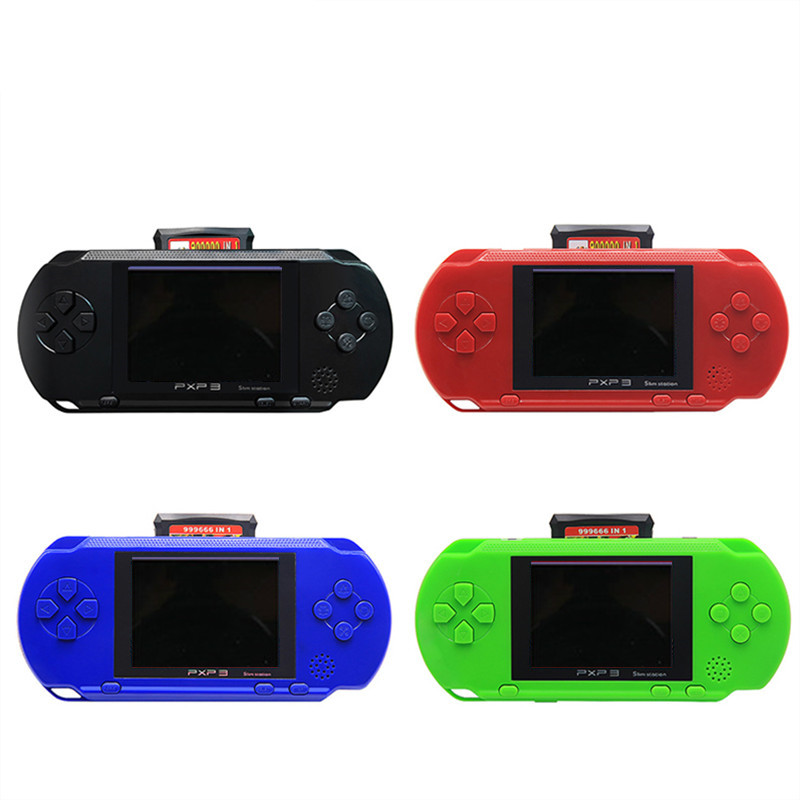 3 Inch 16 Bit PXP3 Slim Station Video Games Player Handheld Game +2pcs Game Card Console built-in 999999 Classic Games New 16 1