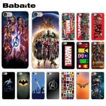 Babaite Marvel Super heroes Avengers TPU Transparent Phone Case Cover Shell for iPhone 6S 6plus 7 7plus 8 8Plus X Xs MAX 5 5S XR(China)