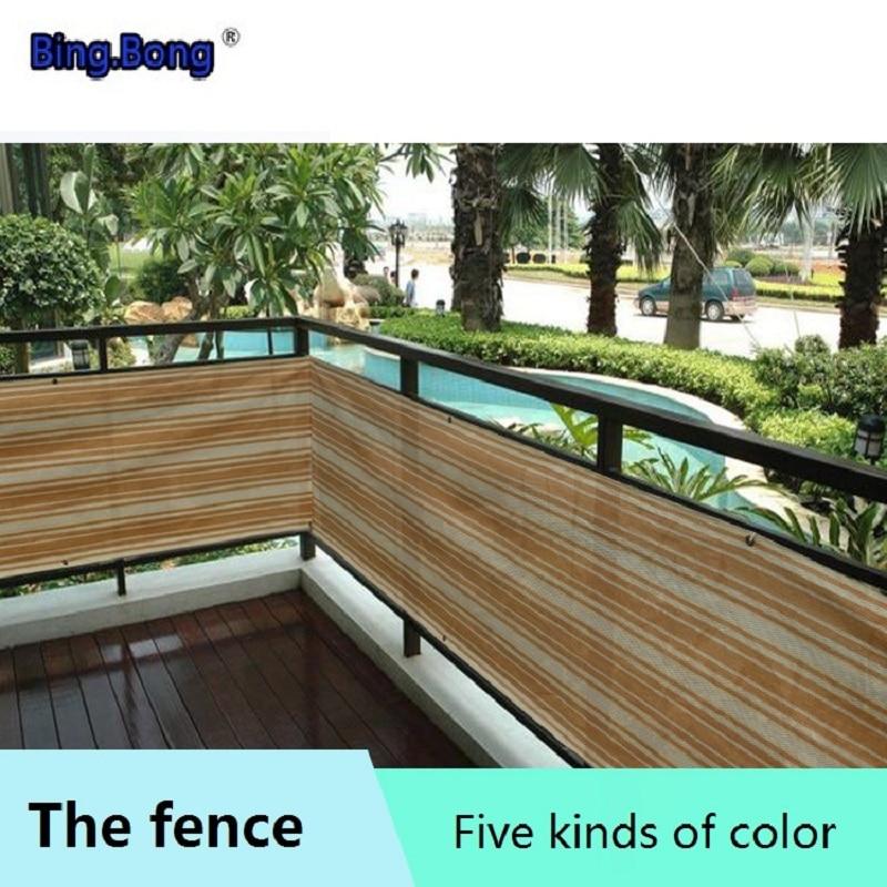 € 10.11 45% de réduction|Clôture abri réseau HDPE garde corps balcon  terrasse clôture ombre soleil ombrage poussière anti uv bébé enfant  protection ...