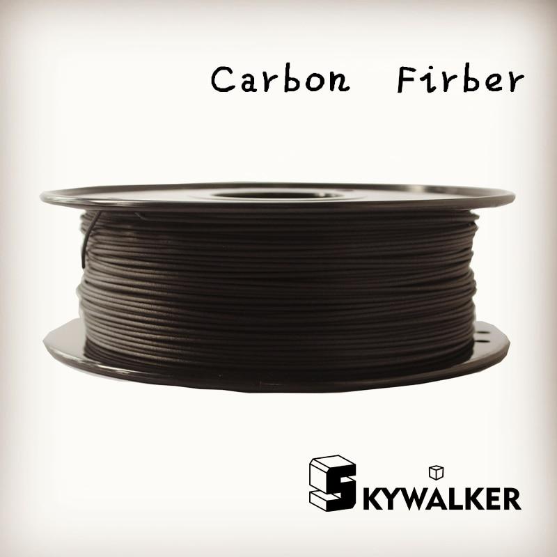 new design Carbon Firberpla 3d printer filament pla filamento 1 75 3d filament 0 8kg 3d