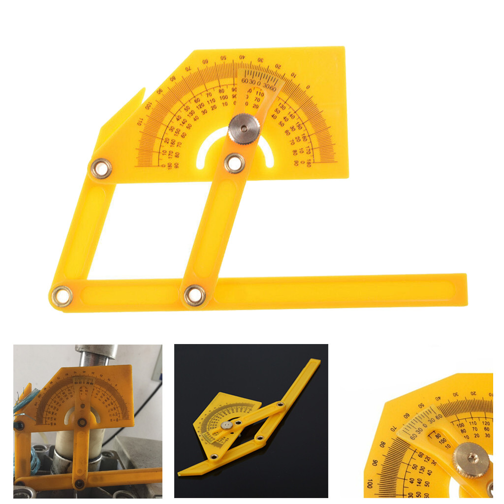 YH Portable 0-180 Degrees Angle Finder Plastic Protractor Goniometer Miter Gaug