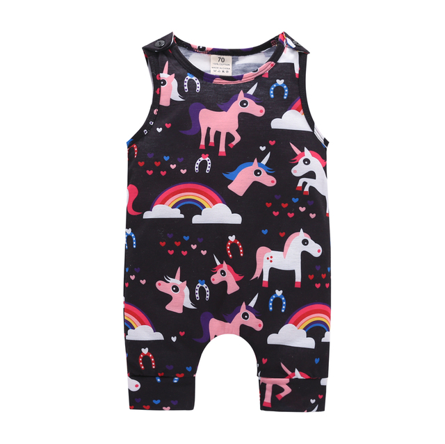 db831f5fa48f 0 24M Toddler Rompers Girl Baby Romper Summer Pink Playsuit Clothes ...