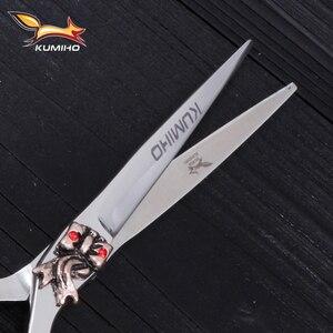 Image 4 - KUMIHO ücretsiz kargo saç makas 6 inç kuaförlük makas seti güzellik salonu makas japonya 440C paslanmaz çelik