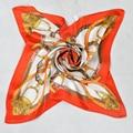 2015 Красный Шелк Тутового Шелковый Шарф Печатных 100% Шелковые Шарфы Европа Америка Стиль Весна Осень Сеть Pattern Атласная Шарф