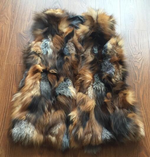 Новое поступление натуральный Лисий мех жилет натуральный Лисий женский зимний жилет модный бренд TonFur KFP577 - Цвет: Crystal Color