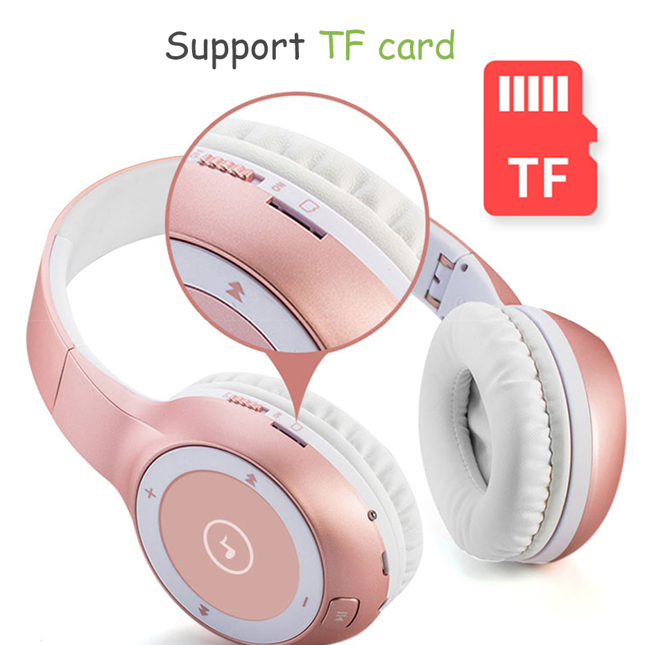 Wireless Headphone HiFi Portable Bluetooth Headset Noise Cancelling Headphone for Computer Smartphone Strong Bass with Mic