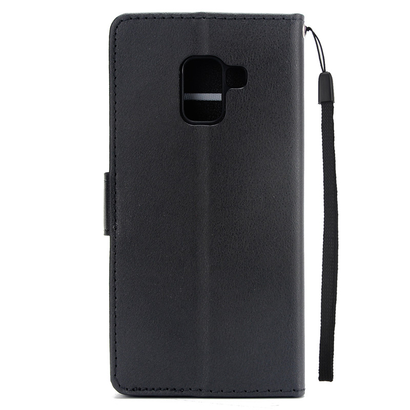 Classic Leather Phone Case On For Samsung Galaxy S8 S9 S10 Plus S7 Edge J3 J5 A3 A5 2016 2017 A8 A6 J4 J6 Plus A7 2018 Cover