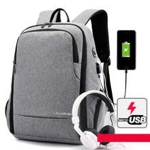 Купить с кэшбэком Backpack Women Men Shoulder Bag Business Waterproof Oxford Student USB Laptop Netbook Computer Bag Outdoor Travel Bags