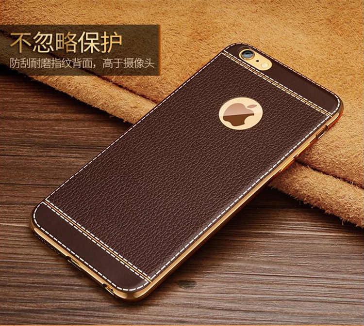 Caja del teléfono para iPhone X 7 6 5 s SE 5S 6 s Plus 6 Plus 6 Plus 7 Plus funda trasera de TPU de cuero PU cubierta completa suave