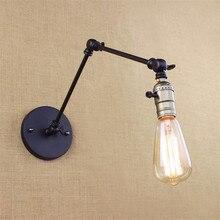 Lámpara Vintage Retro Loft soporte ajustable luz de pared Industrial Edison iluminación Base de hierro iluminación de pared lámparas antiguas OY16W04E