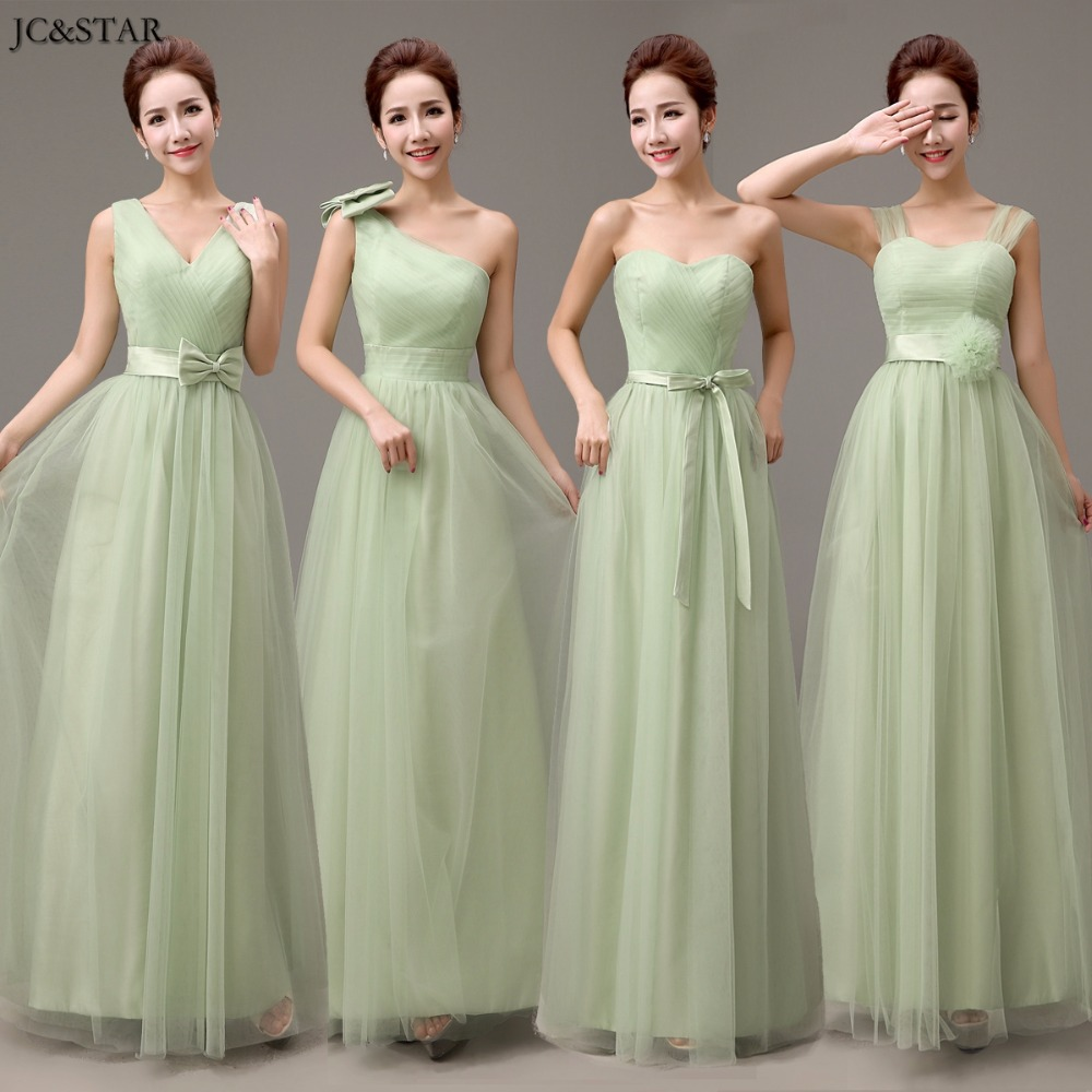 jcstar 2017 v neck straps tulle long mint green bridesmaid dresses wedding party dress cheap bridesmaid dresses under 50