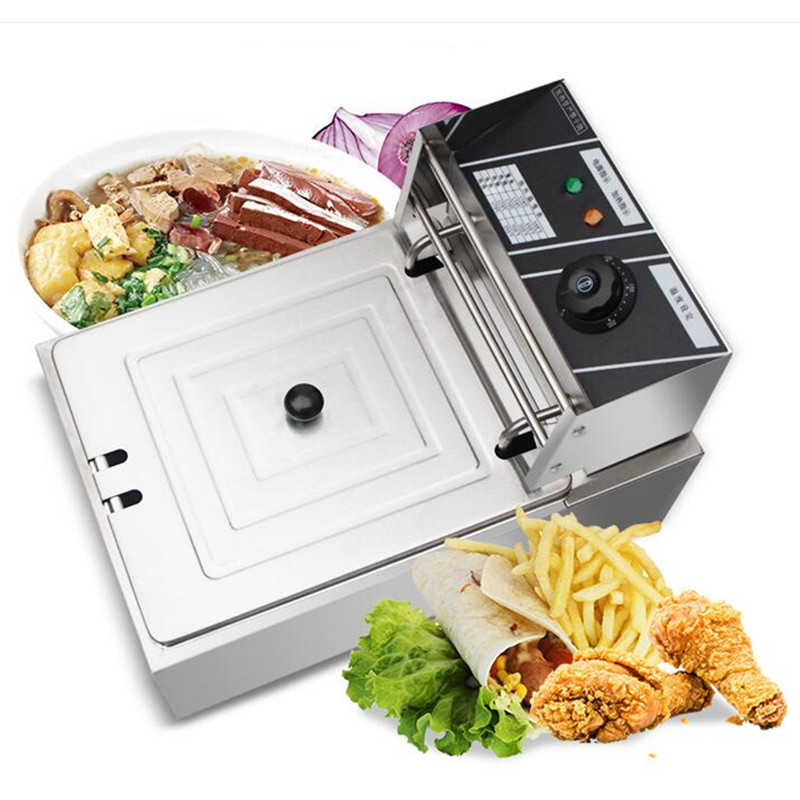 Commercial Stainless Steel 220V Electric Oden Machine 5.5L Multifunctional Fryer Electric Cooking & Frying Machine High Quality 10oz stainless steel 110v 220v electric commercial popcorn machine with temperature control