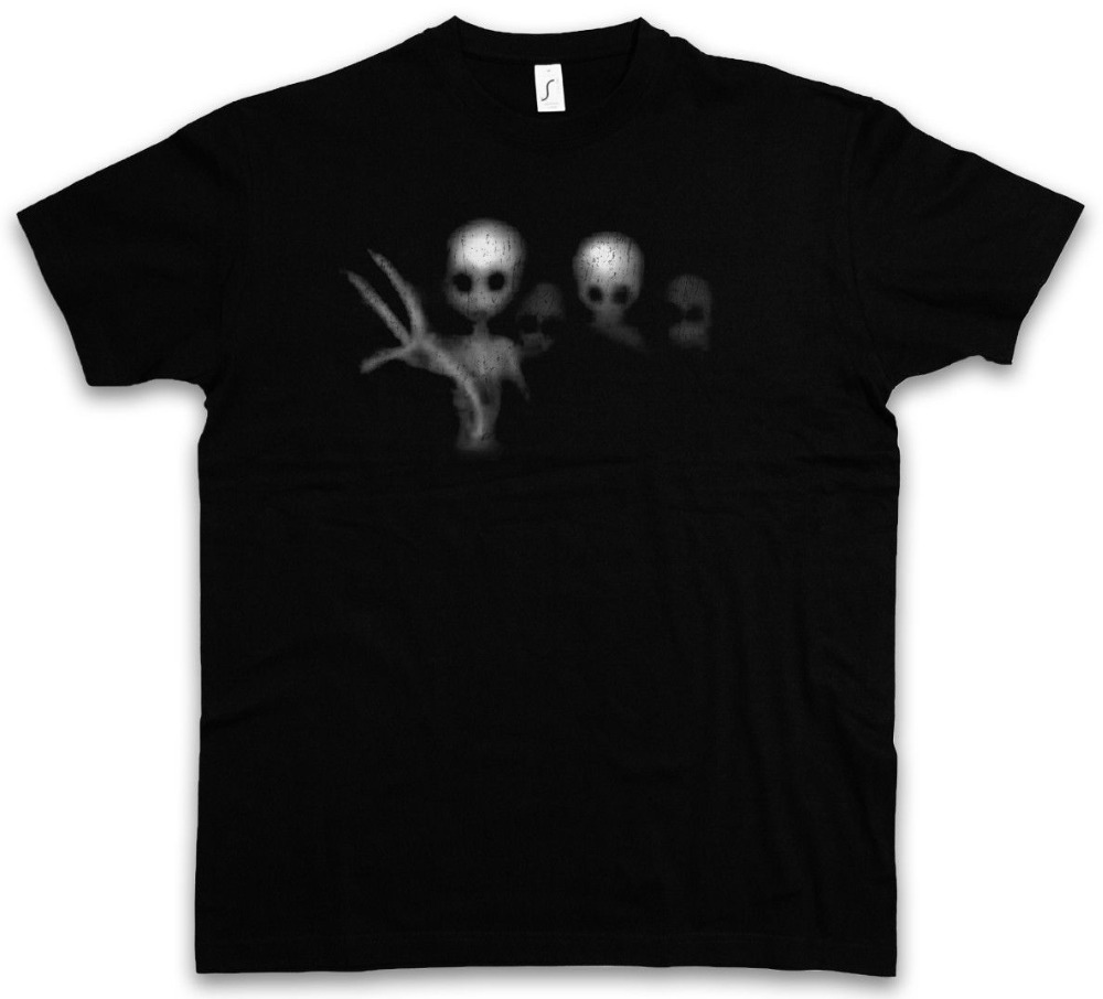 Free shipping 2018 ALIEN GHOSTS T-SHIRT - Ufo Area Restricted 51 Alien Sighting Printed  ...