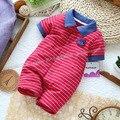 Menino romper 100% algodão da listra azul estilo verão romper macacão roupa do bebê recém-nascido