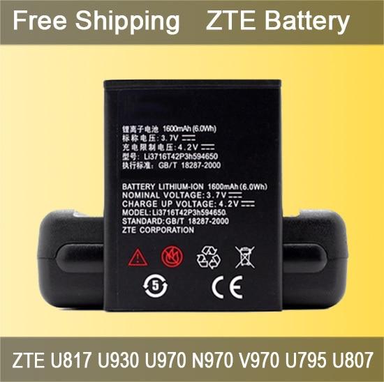Hot Sale 1600mAh ZTE Mobile Phone Battery for ZTE U817 U930 U970 N970 V970 U795 U807