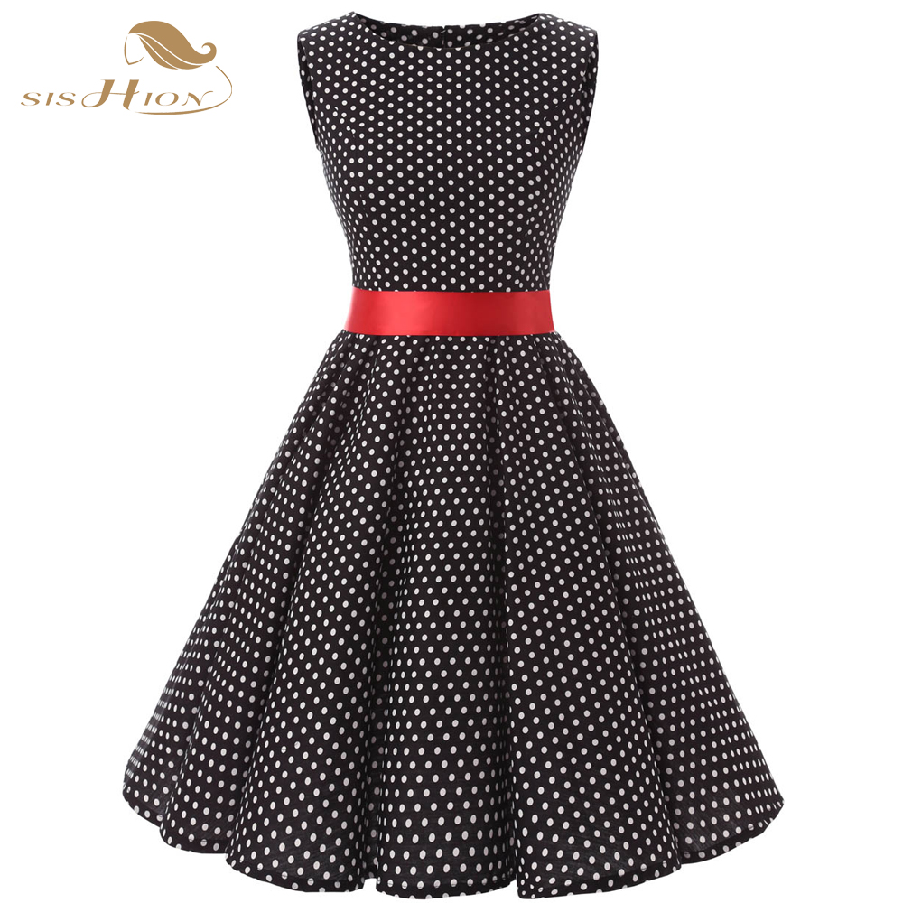 Plus Size Red And Black Polka Dot Dress