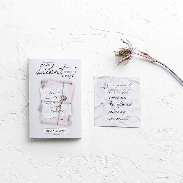 30 Feuilles LOT Creative Amour Lettre Carte Postale De Voeux
