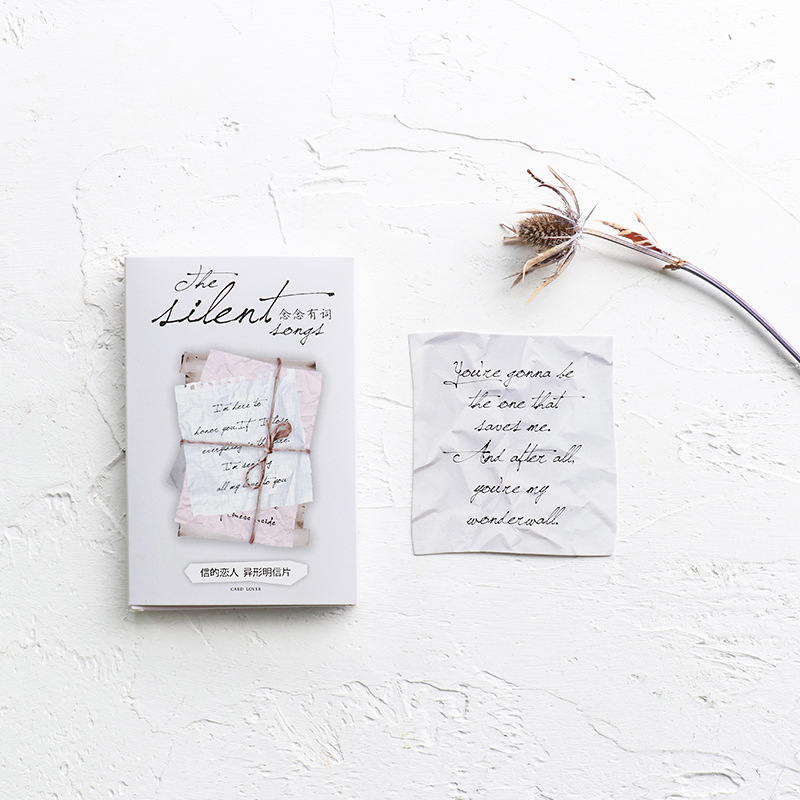 30 Sheets/LOT Creative Love Letter Postcard /Greeting Card/Wish Card/Christmas And New Year Gifts