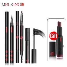 Black Long Lasting Pencil Waterproof Eyeliner Mascara Makeup Waterproof Lengthening Cosmetics Set Cosmetic Beauty Makeup MEIKING