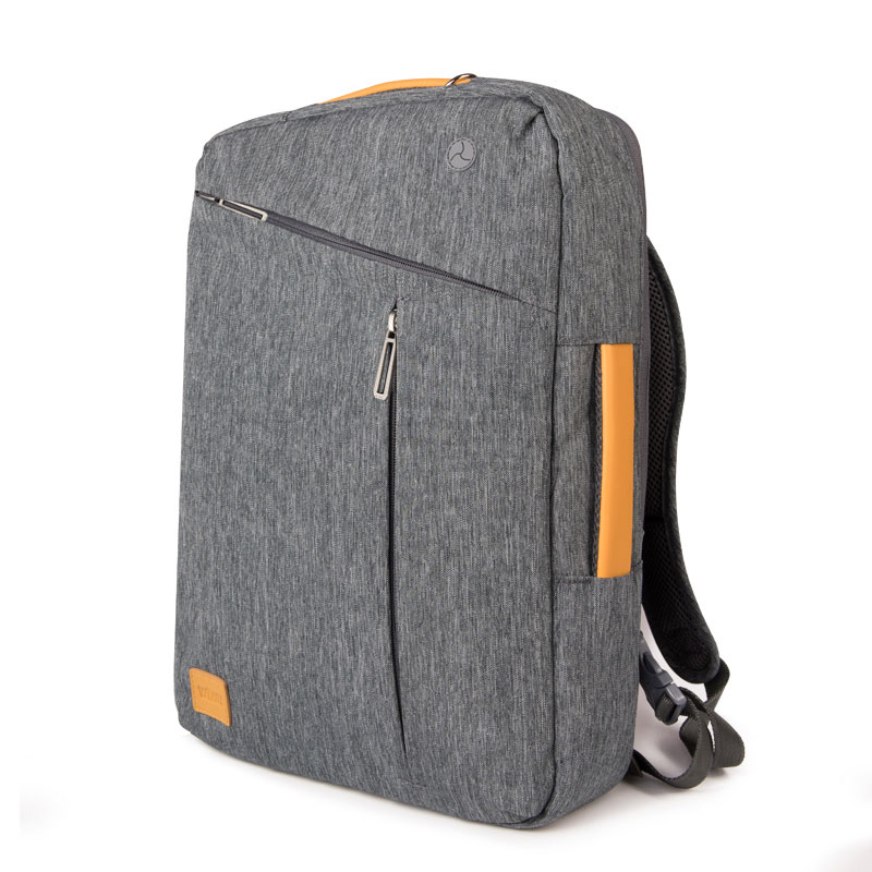 2019 WIWU Laptop <font><b>Backpack</b></font> 17.3 15.6 15.4 14 Canvas Waterproof <font><b>Backpack</b></font> <font><b>Leather</b></font> Bag for Macbook Pro 15 Men's <font><b>Backpack</b></font> Laptop Bag image