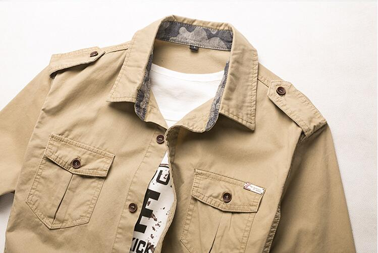 100% Cotton Military Shirt Men (3)