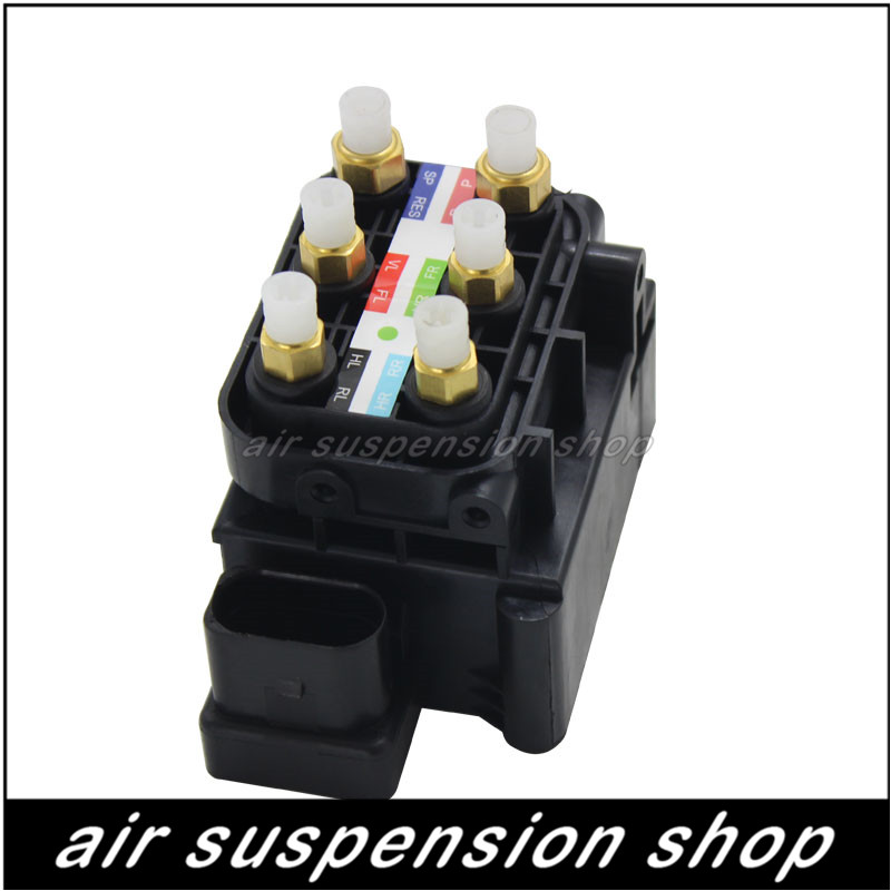 4F0616013 Air Spring Suspension Ride Supply Solenoid Valve Block for Audi A8 D3 S8 4E A6 4F C6 S6 A6L Avant C5 Allroad Quattro 2 front air suspension shock strut for audi a8 d3 4e 2002 2010 4e0616039ah 4e4616040e 4e0616040af 4e4616039d 4e4616040d