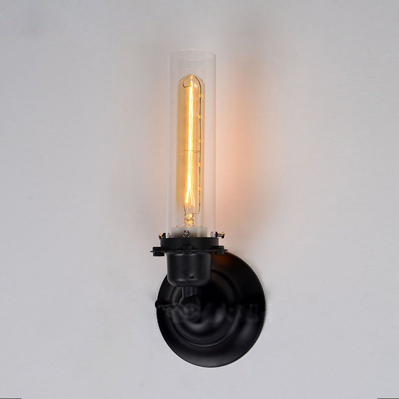 Loft Vintage Industrial Retro Ameican Country Clear Glass Edison Wall Sconce Lamp Bathroom Mirror Home Modern