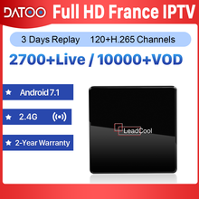 IPTV France Arabic 1 Year IP TV Code DATOO Leadcool X Android 7.1 1G+8G S905W French Box Spain Italy