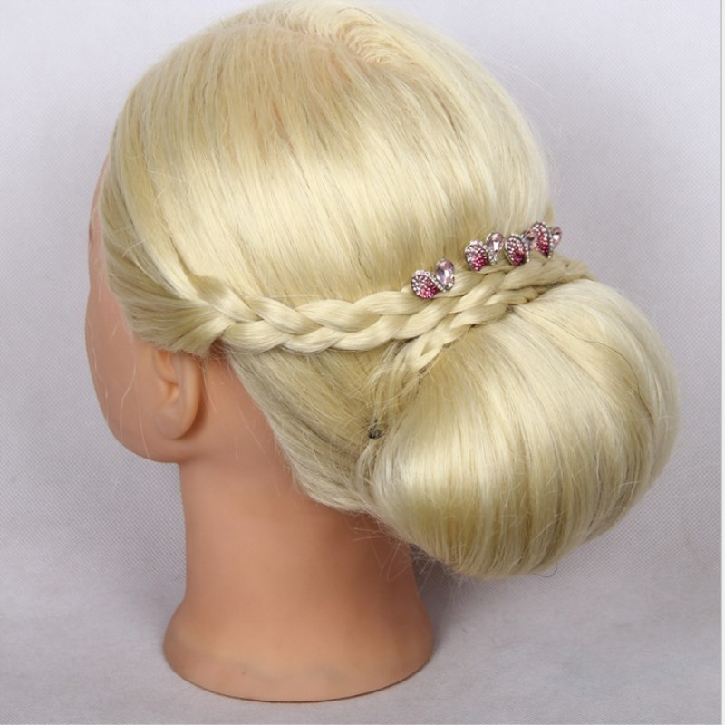 Blonde Hair Hair Mannequin Heads Training Head Styling Long Hair Mannequin Cosmetology Wig Hairdressing Wig Models Made