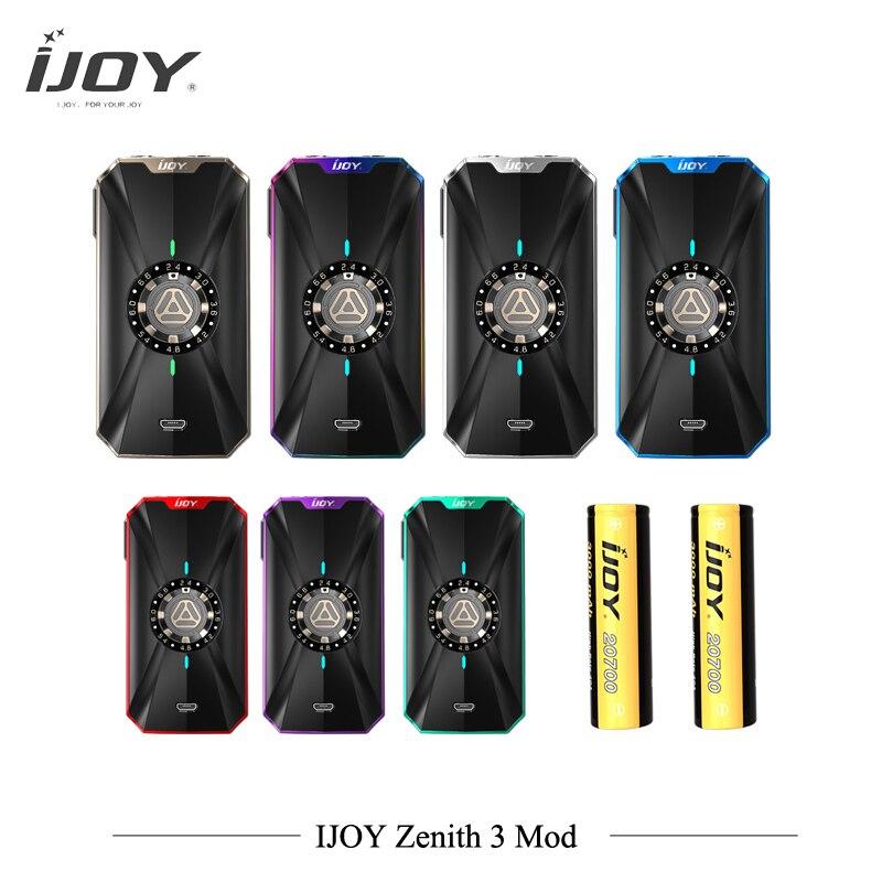 D'origine IJOY ZÉNITH 3 mod avec double 20700 batteries 360 w boîte mod zénith 3 semi-boîte mécanique mod vs capitaine pd270 Vaporisateur