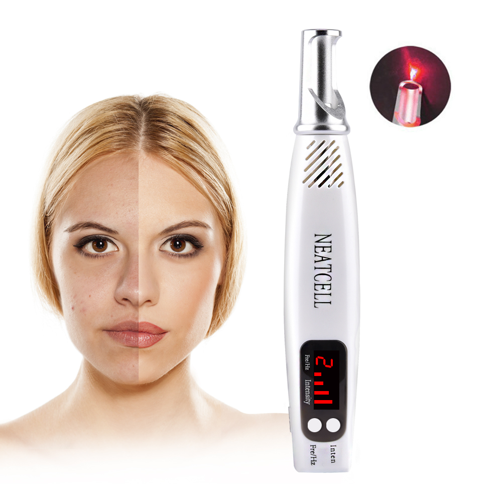 LCD Display Blue&Red Light Laser Pen Freckle Tattoo Acne Pigment Removal Mole Freckle Treatment Machine Beauty Face Skin Care lc171w03 b4k1 lcd display screens