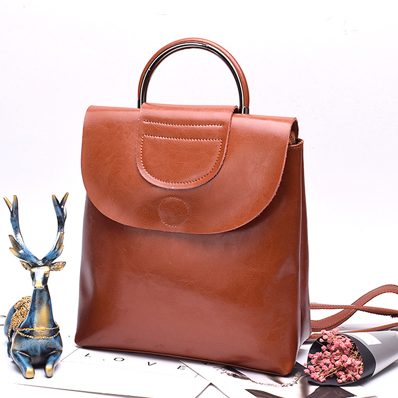 2940.82руб. 50% СКИДКА|Рюкзак женский из натуральной воловьей кожи, вместительный школьный рюкзак|Рюкзаки| |  - AliExpress