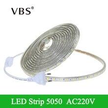 Buy rope lights outdoor and get free shipping on aliexpress 5050 led strip light tira led ac220v 60ledm fita led ip67 waterproof 1m aloadofball Choice Image