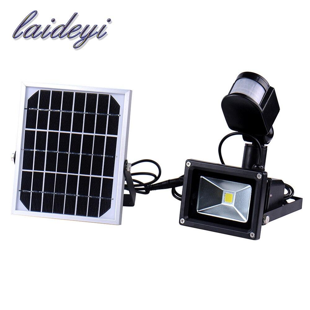 купить 10W 60leds IP65 waterproof Led Flood Light Pir solar Motion Sensor Induction Sense Led Floodlight Cold White Advertising Lamp недорого