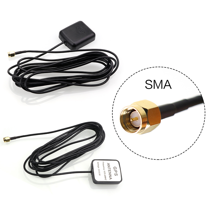 Strengthen Signal GPS Receiver GPS Antenna SMA Conector 3 Meters 1575.42MHz Motorcycle Auto GPS Accessories 100% brand new gps speedometer 60knots for auto boat with gps antenna white color