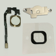 1Set Original Home Menu Button Key Flex Cable Assembly with Metal Bracket and Rubber Gasket For iPho