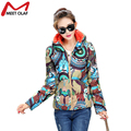 2016 Hot Print Parkas Female Women Winter Coat Warm Cotton Winter Jacket Womens Outwear Parkas For Women Jackets And Coats YL710