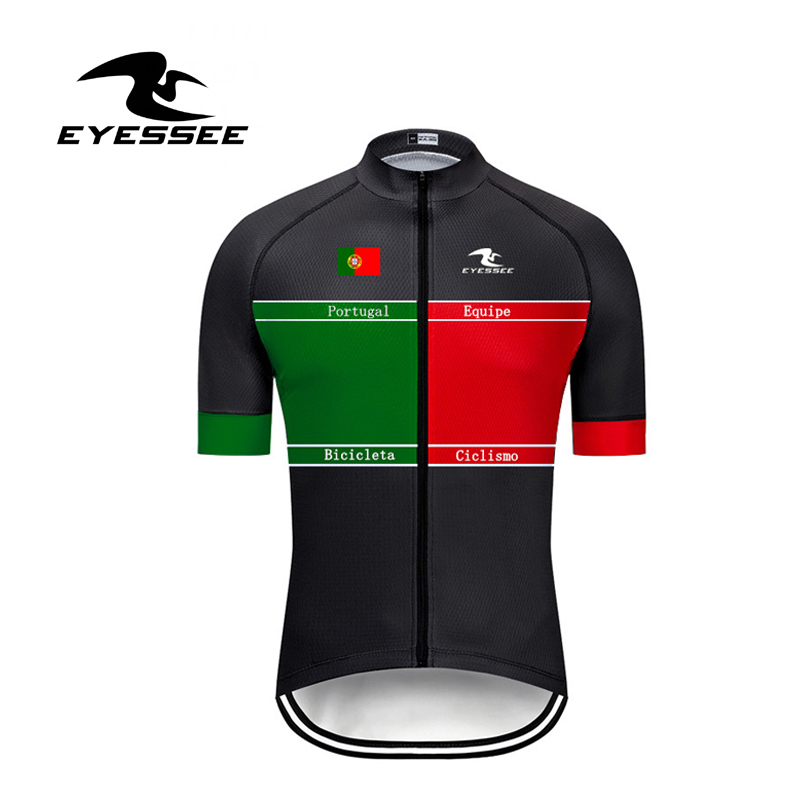 EYESSEE 2019 Pro Ciclismo Team Portugal Cycling Jersey / High Quality Breathable Bicicleta Cycling Competition Bicycle Jersey