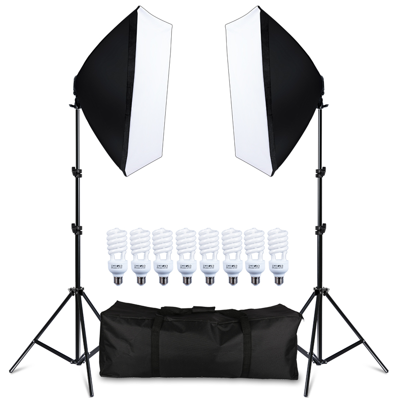 2 Stands 2 Umbrellas or Softboxes Extra Large Photo Studio Lighting Kit Carry Carrying Bag with Wheels Fits 2 Light Heads