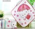 Toalla de los niños 100% del algodón del bebé mano toalla bebé pequeño pañuelo cuadrado toalla de la historieta toalla suave