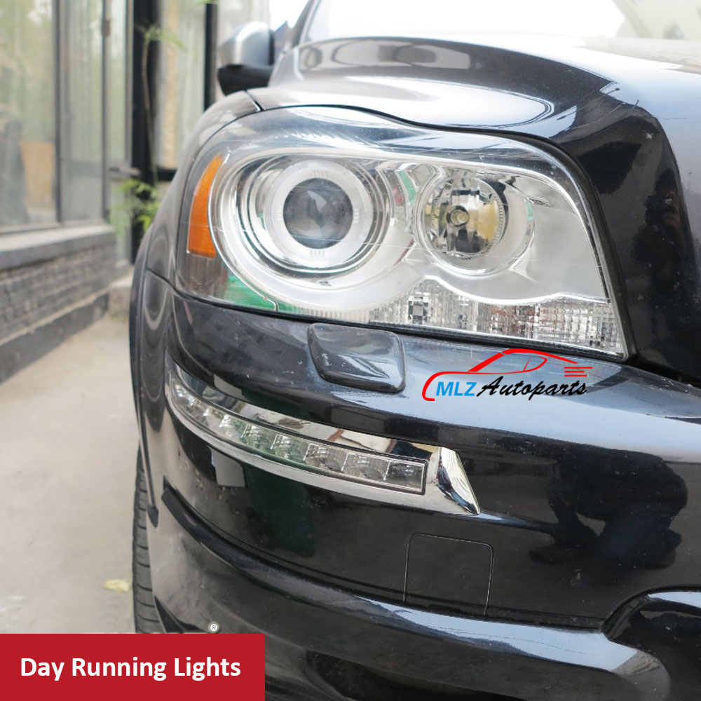 LED Daytime Running Light Cover DRL Daylight Turn Signal White Yellow For Volvo XC90 2007 2008 2009 2010 2011 2012 2013 2014 mzorange side mirror led turn signal light outside for prius reiz wish mark x crown avalon 2008 2009 2010 2011 2012 right